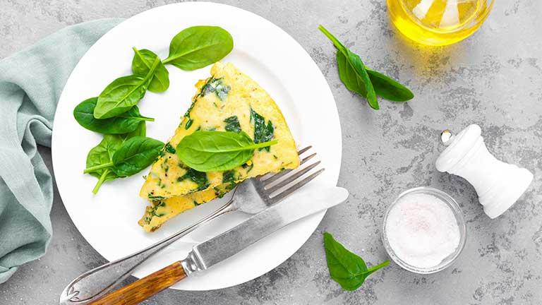 Ketojenik Ispanaklı Omlet