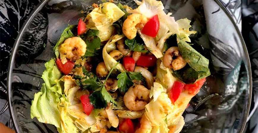 Keto Karides Salatası